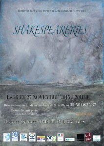 AFFICHE Shakespeareries
