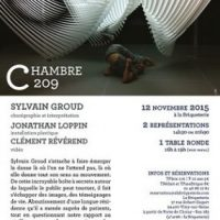 Spectacle Chambre 209 de Sylvain Groud et table ronde